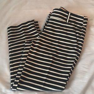 LOFT Black Striped Marisa Pant